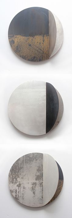 Metal wall sculptures. Title: 'Monoscape Series' Artist Rebecca Gouldson - Metal Wall Art http://www.rebeccagouldson.…