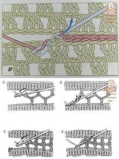 Crochet Blocks, Granny Square Crochet Pattern, Crochet Diagram, Crochet Squares, Crochet Motif, Crochet Fabric, Crochet Tablecloth, Diy Crochet, Crochet Stitches For Beginners