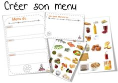 Create a menu Menu Restaurant, Core French, Character Education, French Food, Food And Drink, Nutrition, Photos, Cycle 2, French Resources