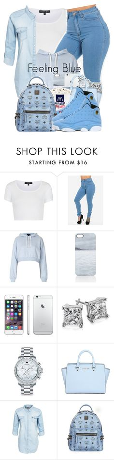 """""""JORDAN #"""" by theuniquedasia ❤ liked on Polyvore featuring Topshop, Nixon, Blue Nile, Movado, MICHAEL Michael Kors, ONLY, MCM and Pantone"""
