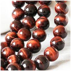 B42 Nature Red Tiger Eye Beads Supplies, Full Strand 4 6 8 10 12 14 16mm Round Tiger Eye Gemstone Beads for DIY Jewelry Making by AnselDIYCraft on Etsy