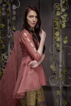 Designer Dresses Sale up to off Kurti Sleeves Design, Sleeves Designs For Dresses, Dress Neck Designs, Blouse Designs, Sleeve Designs, Pakistani Dresses Casual, Pakistani Dress Design, Indian Dresses, Frock Fashion