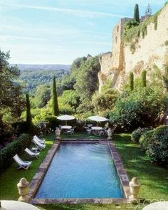 Paradise would be here....lounging by this serene pool under a beautiful warm sun. Provence France