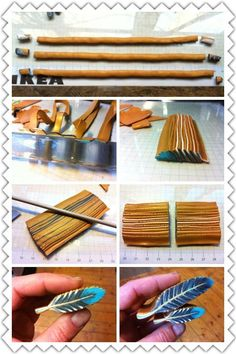 Feather cane photo tute #Polymer #Clay #Canes