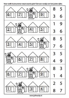 werkbladen sinterklaas getalrij