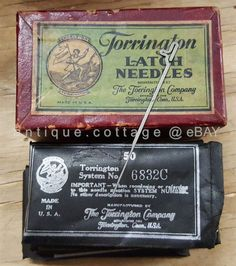 Antique TORRINGTON Latch Needles Unused in Full Box Sewing Machine | eBay