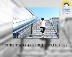 To keep your knee joints strong, try not to use the elevator if you are healthy enough. Take stairs whenever or wherever necessary. #SayNoToElevator #StairsAsExercise