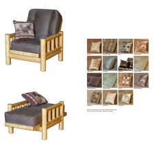 Tahoe Log Futon Chair Set with Cover at www.dcgstores.com - Sales $495.00