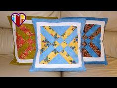 Patchwork - Almofadas em patchwork As flexas - Maria Adna Ateliê - Vídeo de técnica de patchwork - YouTube