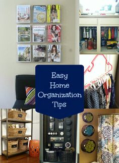 Get your home organized with these simple, but effective tips! #organization #storage #forthehome