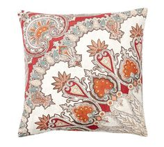 "Valencia Paisley Pillow Cover 18"" $23  