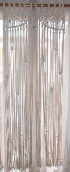 Cortina macramé - artesanum com