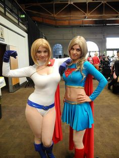 Power Girl and Supergirl