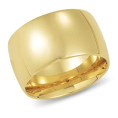 This band is a bold, contemporary look. It is one of our most requested styles, the domed band. Its width is perfect for men and women looking for a wider yet classic yellow gold wedding band. Gold Wedding Jewelry, Gold Jewelry, Wedding Rings, Jewellery, Jewelry Box, Jewelry Making, Gold Band Ring, Gold Bands, Piercings