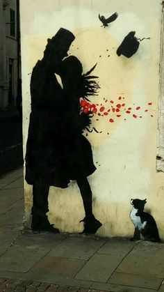 """""""The kiss"""" Street art by Kenny Random (Padova, Italy )"""