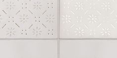 Difference between light of and on behind a tile #tiles #transparant #white #translucent #porcelain #15x15 #bathroom #textiles #wall #decoration #led #imprint #relief #barbaravos #wallcovering #kitchen #shower #home #interior #design #glaze #backsplash #flower #pattern #coral #fabric #lace #backlit