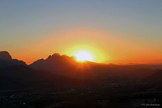Sunset in Franschhoek by Jean Labuschagne on 500px
