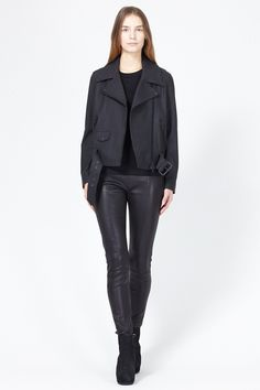 Acne Studios Mape Scuba Jacket (Black) (great look overall)