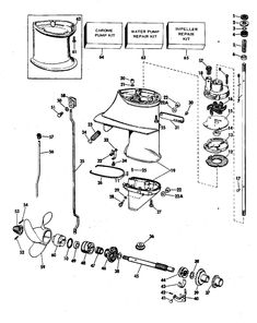 Johnson Lower Unit Group Parts for 1968 6hp CDL25R Outboard Motor | Boat Engine | Pinterest