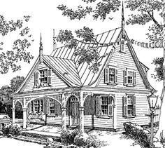 Southern Living plans: Victorian Cottage SL-157