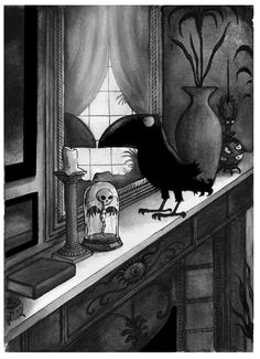 Edgar (as illustrated by Pete Williamson), hero of the Raven Mysteries by Marcus Sedgwick and worthy successor to Mortimer.