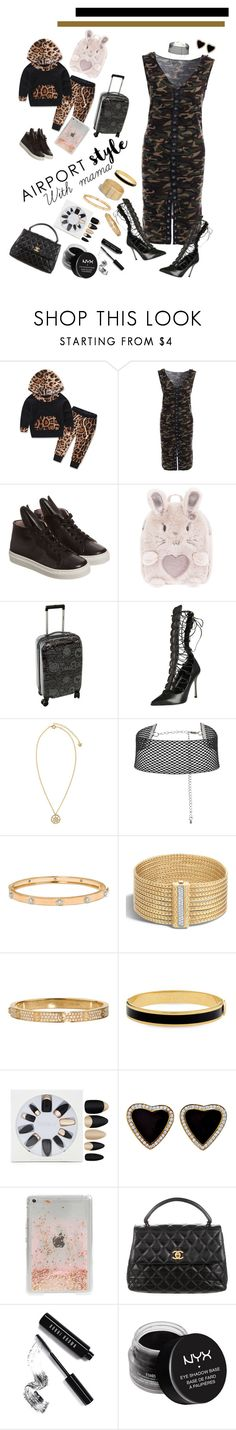"""Airport with Mama"" by kmariefashion ❤ liked on Polyvore featuring Minna Parikka, Accessorize, Sergio Rossi, Versace, Buccellati, John Hardy, Cartier, Halcyon Days, Forever 21 and Skinnydip"