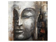 Hand Painted 1 Piece Group Set Modern Abstract Buddha Oil Painting Canvas Red Plum Classical Moon Star Wall Art Home Decoration Oil Painting on Canvas Art Buddha, Buddha Kunst, Buddha Zen, Buda Painting, Painting Canvas, Art Pastel, Hamsa Art, Art Asiatique, Buddhist Art