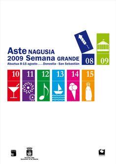 Cartel Semana Grande San Sebastian 2009