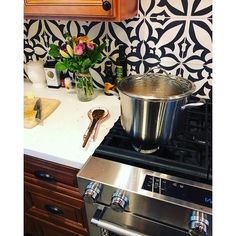 Shop for Handmade Meknes Black/White Tile, Pack of 12 (Morocco). Get free delivery On EVERYTHING* Overstock - Your Online Home Improvement Shop! White Patterns, Cement Floor, Moroccan Tiles, Handmade Shop, Meknes, Tile Covers, Kitchen Tiles Backsplash, Black And White, Home Decor