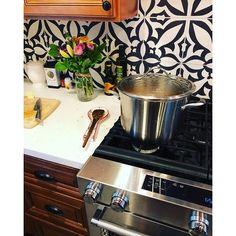 Shop for Handmade Meknes Black/White Tile, Pack of 12 (Morocco). Get free delivery On EVERYTHING* Overstock - Your Online Home Improvement Shop! Tile Covers, Moroccan Tiles, White Tiles, Kitchen Tiles, White Patterns, Handmade Shop, Wall Tiles, Backsplash, Morocco
