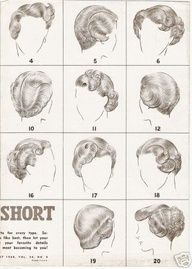 Short Hair Vintage Hairstyling