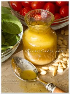 Honey-Mustard Marinade or Vinaigrette - Ingredients: 2 T Dijon mustard, 1/4 cup honey, 1/4 cup red-wine vinegar, 1/4 cup extra-virgin olive oil, Ground Pepper to taste. Directions: In a small bowl, whisk the ingredients together until well combined. Store in refrigerator for up to 3 weeks. Makes about 3/4 cup.