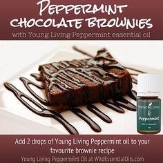 Essential Oils Australia, Buy Essential Oils, Young Living Oils, Young Living Essential Oils, Peppermint Essential Oil Uses, Young Living Peppermint, Chocolate Brownies, Brownie Recipes, Valencia