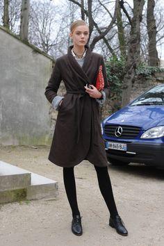 Paris Fashion Week Model Street Style: Anna Selezneva & More | The Front Row View
