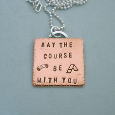 Dog Agility Necklace - May the Course be with You - Hand Stamped Copper by PangaeaDesigns, $45.00