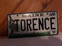 TORENCE VINTAGE MAINE LICENSE PLATE $1.99 FIRST CLASS USPS SHIPPING