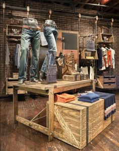"""Denim Work Station"", pinned by Ton van der Veer"