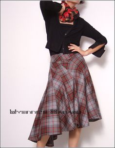 Wool Tartan Winter Warm Skirt by ~yystudio on deviantART