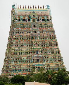 Gopuram of Tenkasi Temple,Tamilnadu,India Temple India, Indian Temple, Hindu Temple, Beautiful Buildings, Beautiful Places, Hindus, Indian Culture And Tradition, Places To Travel, Places To Visit