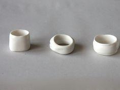 anneaux porcelaine<br></a>anneaux porcelaine blanche