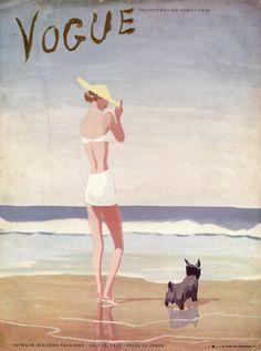 Vintage Vogue Covers 1935-1950
