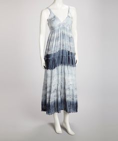 Take a look at this Gray Tie-Dye Maxi Dress by Avatar Imports on #zulily today!