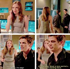 [gifset] #1x02 #FastestManAlive black is in S.T.A.R. labs... lol jk just a copy.