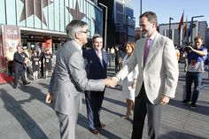 King Felipe VI of Spain greets Jordi Bertomeu Euroleague Basketball President and CEO during the Turkish Airlines Euroleague Final Four Madrid 2015...