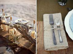 burlap wedding tables dream-wedding-that-s-now-a-reality Wedding Blog, Our Wedding, Destination Wedding, Dream Wedding, Wedding Tables, Wedding Stuff, Marry Me, Strand, Perfect Wedding