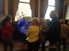 A Docent talking to the guests about the features in the Ruan Laureates Room. World Food Prize, Interactive Display, Room, Bedroom, Rooms, Rum, Peace