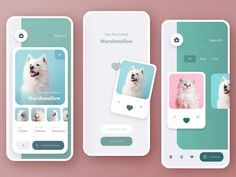 🐶Pet Adoption App designed by Andrea Hock for Adobe XD. the global community for designers and creative professionals. Android App Design, App Ui Design, Best App Design, Android Ui, Design Design, Graphic Design, Mobile Application Design, Mobile Ui Design, Web Minimalista