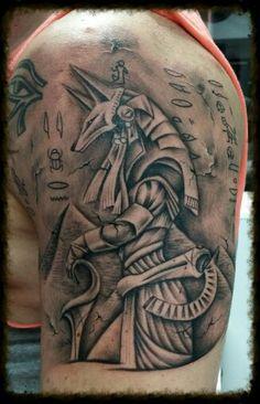 Tattoo de Anubis. Mas Que Arte Valladolid. Fernando Martin.