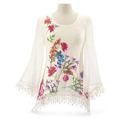 Flowers & Lace Top