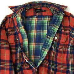Polo Ralph Lauren Shirt Relaxed Fit Flannel Plaid Medium Jac-Shirt Button-up #PoloRalphLauren #CasualTravelWorkwear Flannel Outfits, Flannel Clothing, Tartan Plaid, Plaid Flannel, Ralph Lauren Long Sleeve, Polo Ralph Lauren, Mens Flannel Shirt, Sharp Dressed Man, Men Dress